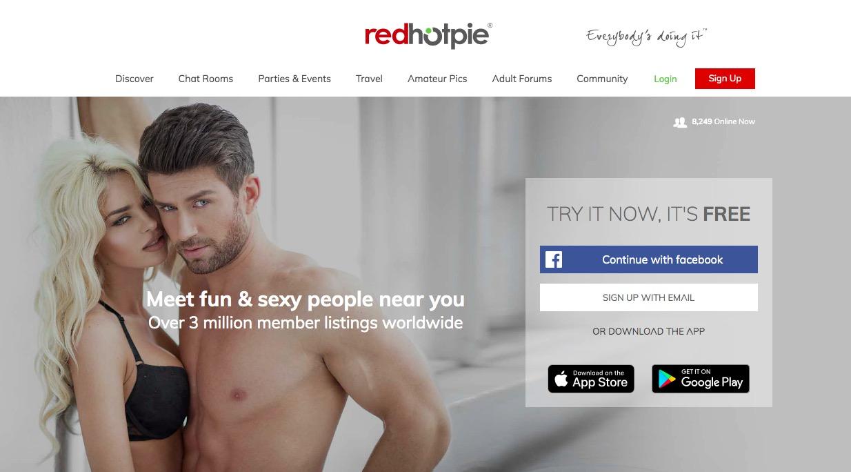 Redhotpie main page