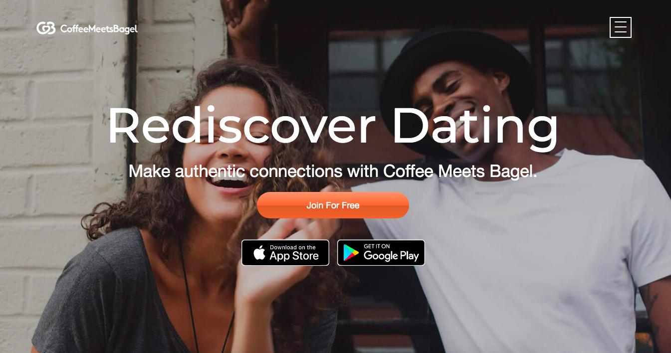 CoffeeMeetsBagel main page