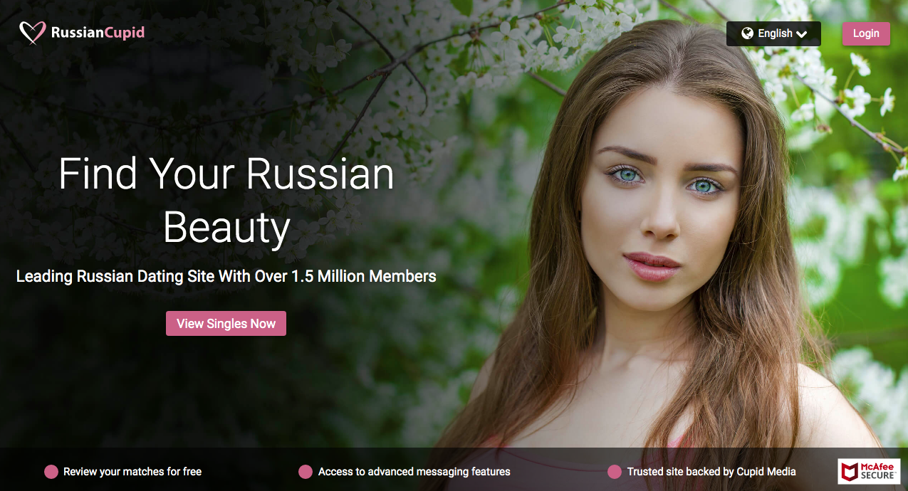RussianCupid main page
