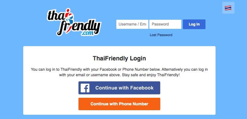 Thai Friendly main page