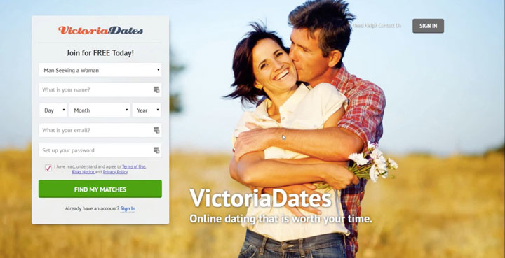 VictoriaDates main page
