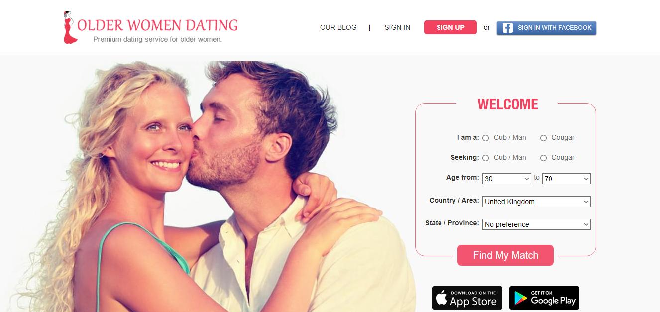 Older Women Datingmain page