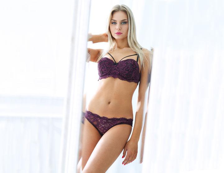 blonde beautiful woman lingerie